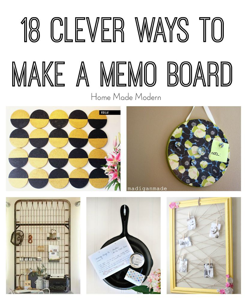 home made modern diy french memo board. Black Bedroom Furniture Sets. Home Design Ideas