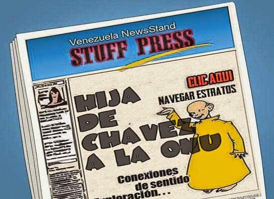 Front page cómic - hija de Chávez embajadora en la ONU