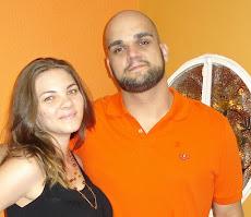 André meu filho e sua noiva Priscila