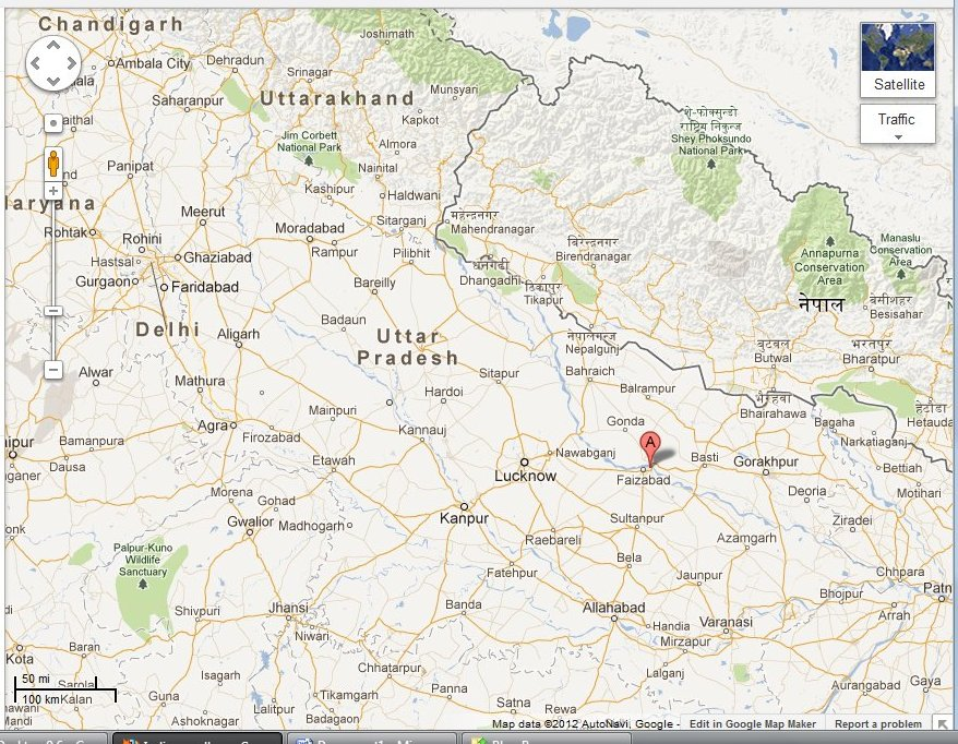 Ayodhya In India Map.India Ayodhya The Battle For India S Soul
