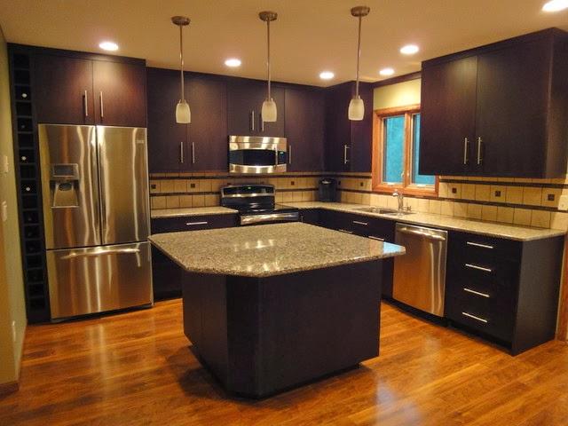 Decoracion y tendencias modernas cocinas con dise os oscuros for Gabinetes de cocina modernos