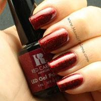 Red Carpet Manicure Gel Polish Draped In Rubies Swatch