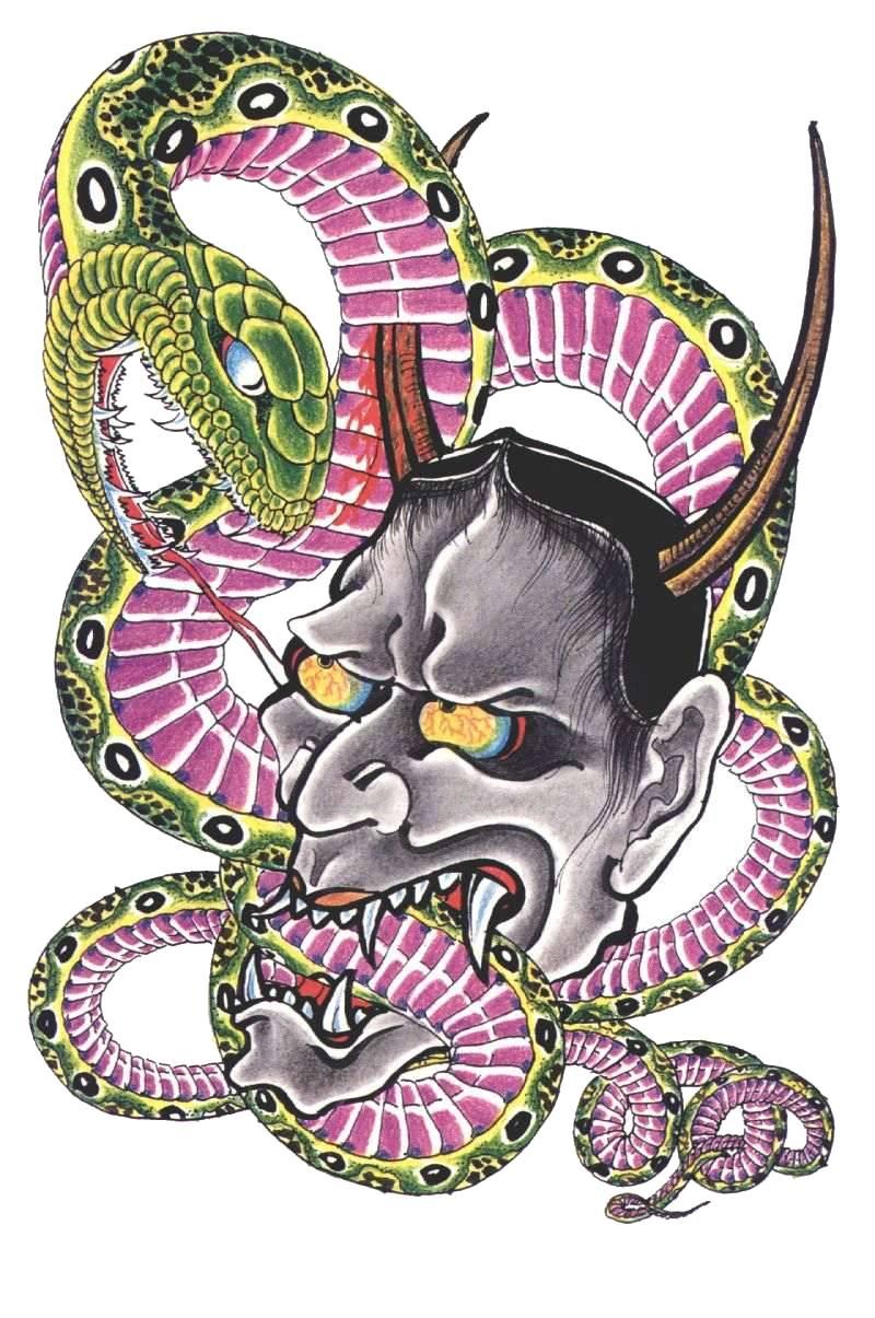 наколка демон с шапкой в виде змеи поручение НДФЛ дивидендов