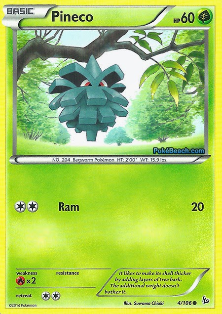 Pineco Flashfire Pokemon Card