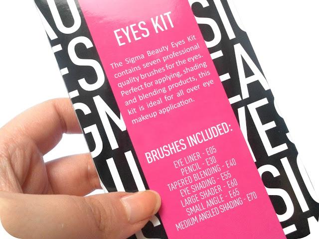 Sigma Beauty Professional Brushes Eyes Kit