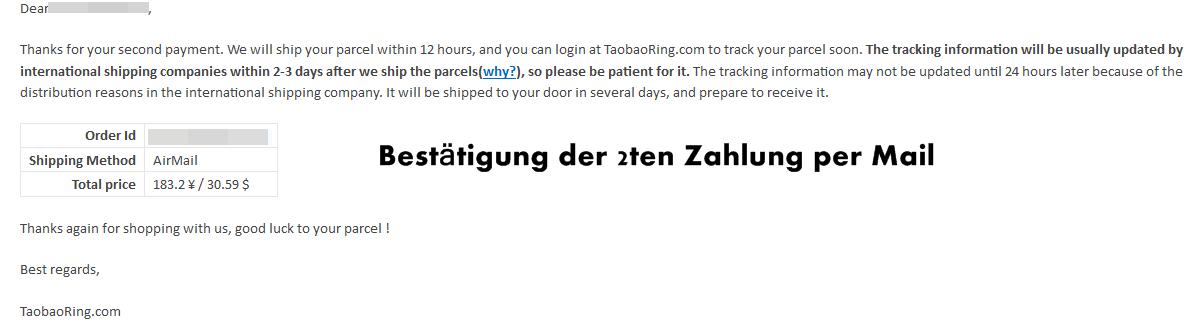 Wie bei Taobao bestellen