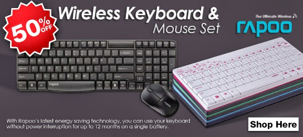 Rapoo Wireless Mouse & Keyboard