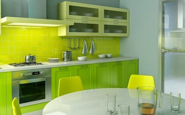 Dapur Minimalis Menjadi Fresh Dengan Konsep Hijau Putih