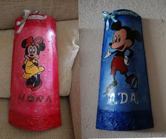 TEJAS infantiles relieve y pintadas