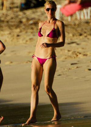 Swimming costumes for ladies: Gwyneth Paltrow ruffle bikini