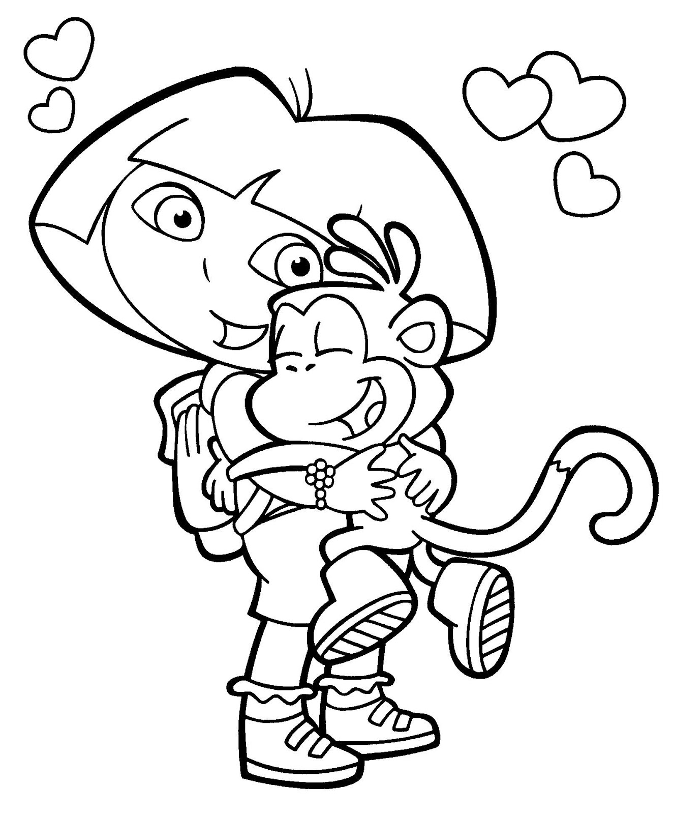 Coloring pages dora sheets for kids photos of and friends computer hd get