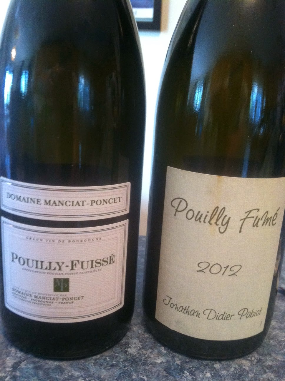 Pouilly-Fuissé and Pouilly-Fumé #wine side by side