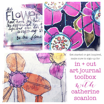 In + Out Art Journal Toolbox with Catherine Scanlon at My Creative Classroom
