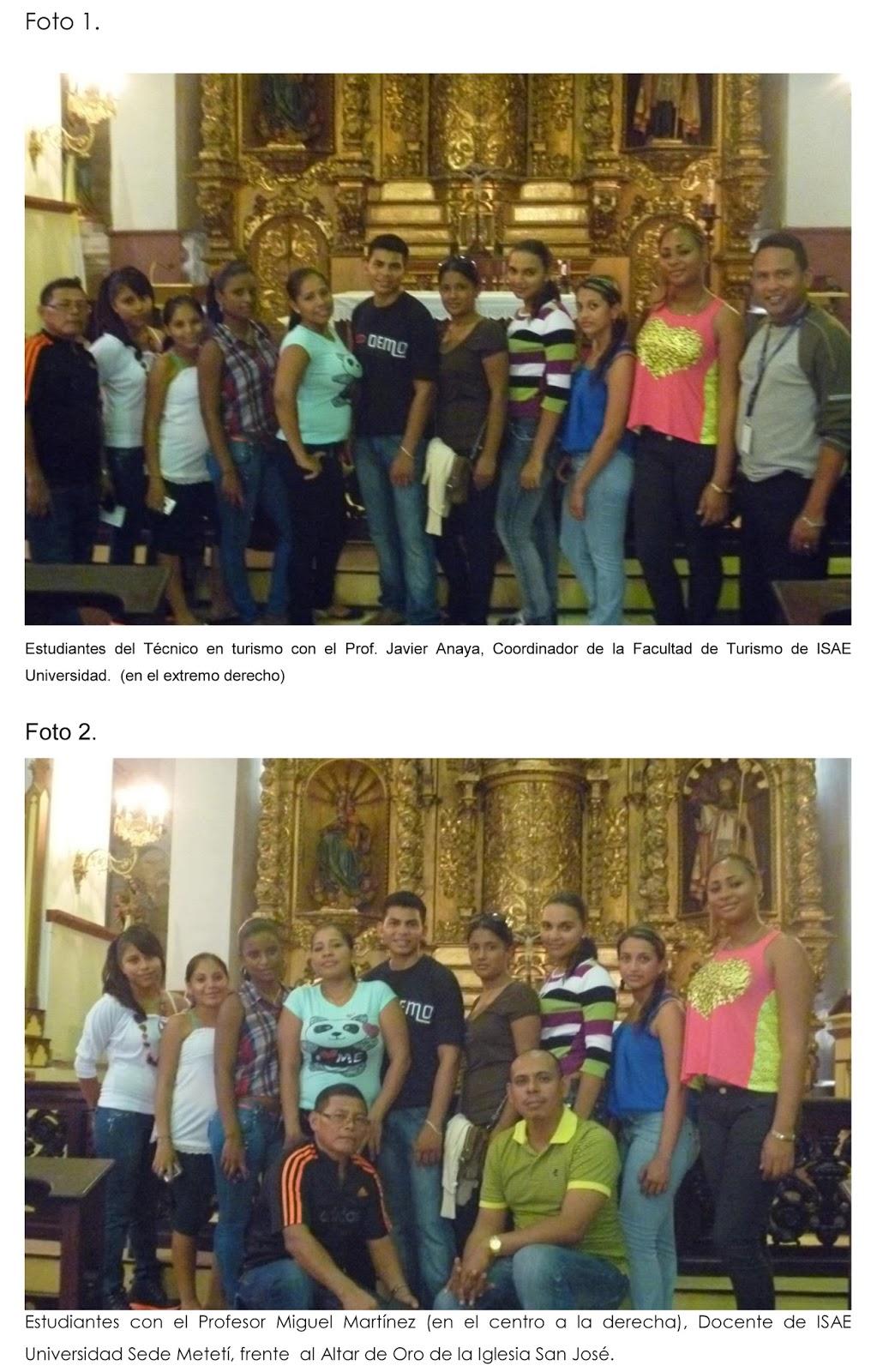 NOTICIAS: Estudiantes de ISAE Universidad, Sede Metetí realizan gira ...