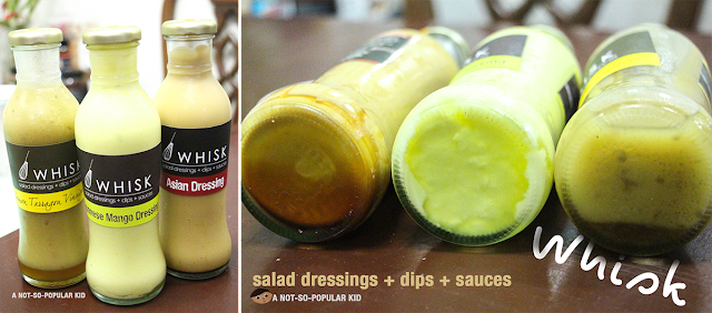 Whisk's special Salad Dressings, Dips and Sauces