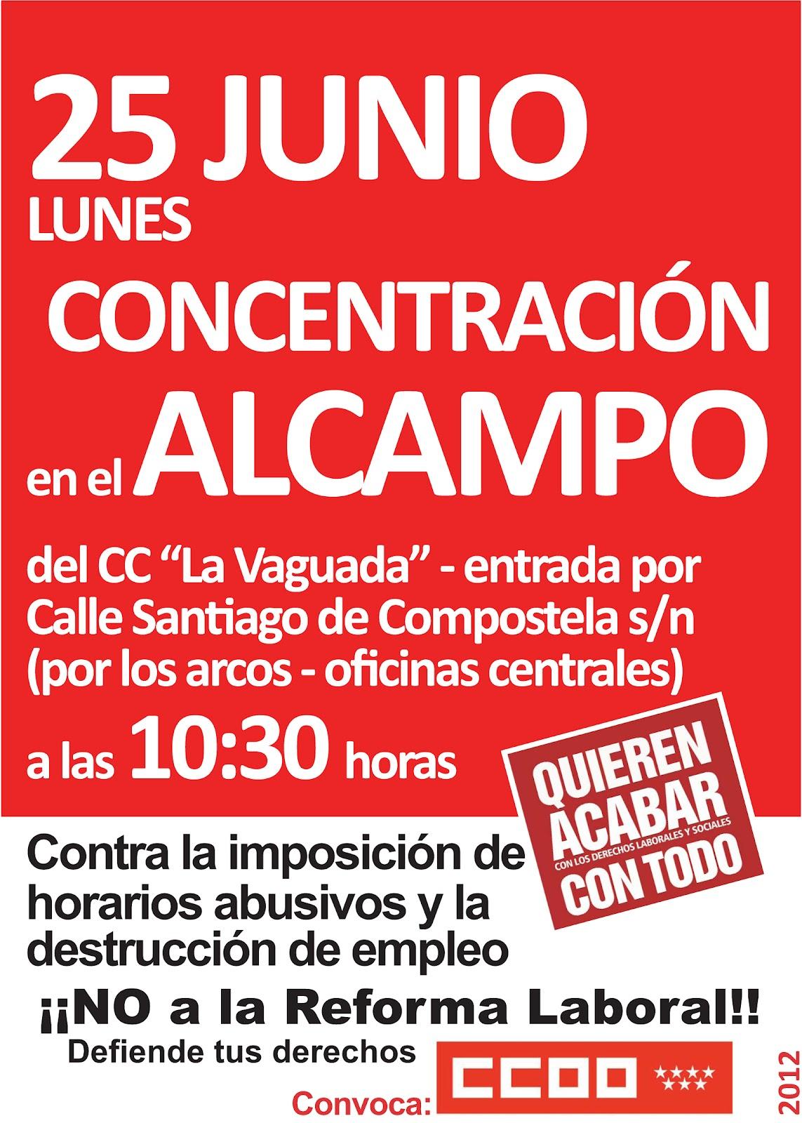madrid alcampo sindical 25 junio a las