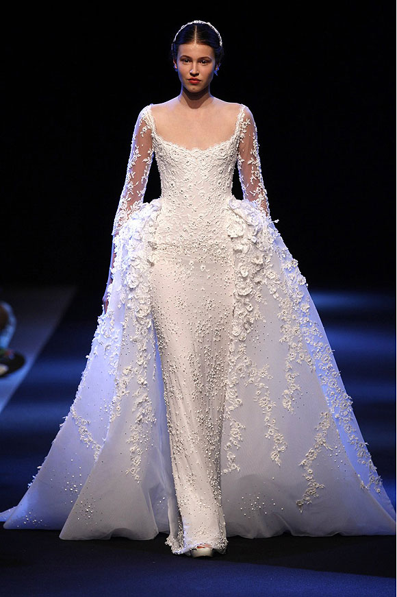 Runway report brides of haute couture a w 2013 nick for Lebanese wedding dress designers