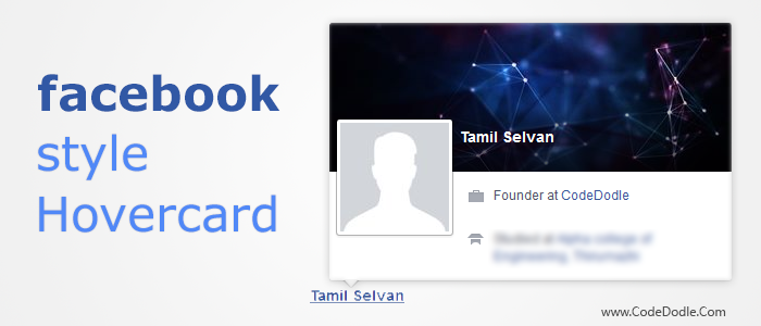 Facebook Style Hovercard