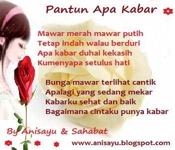 PUISI CINTA BY ANISAYU: Kumpulan Sms Puisi Pantun Apa ...