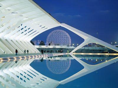 Valencia Spain Awesome Architecture HD Holiday Desktop Wallpaper
