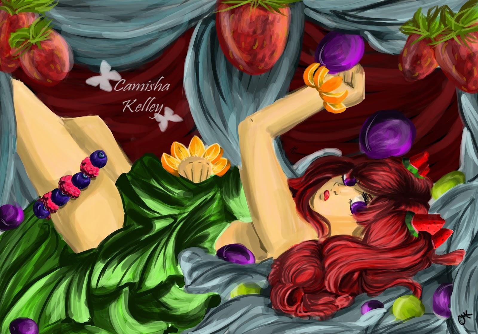 fruit salad inspired illustration
