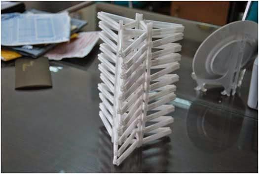 Contoh pembangkit bentuk melalui batang sedotan sehingga menghasilkan