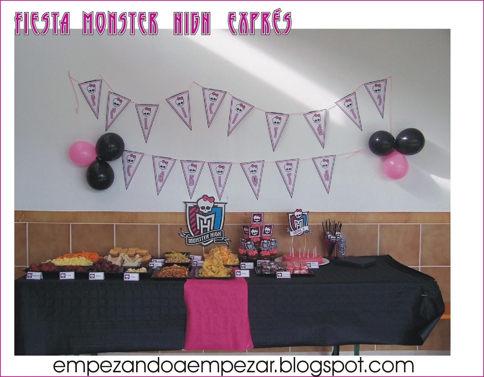 EMPEZANDO A EMPEZAR: Fiesta Cumpleaños Monster High y fiesta pijama