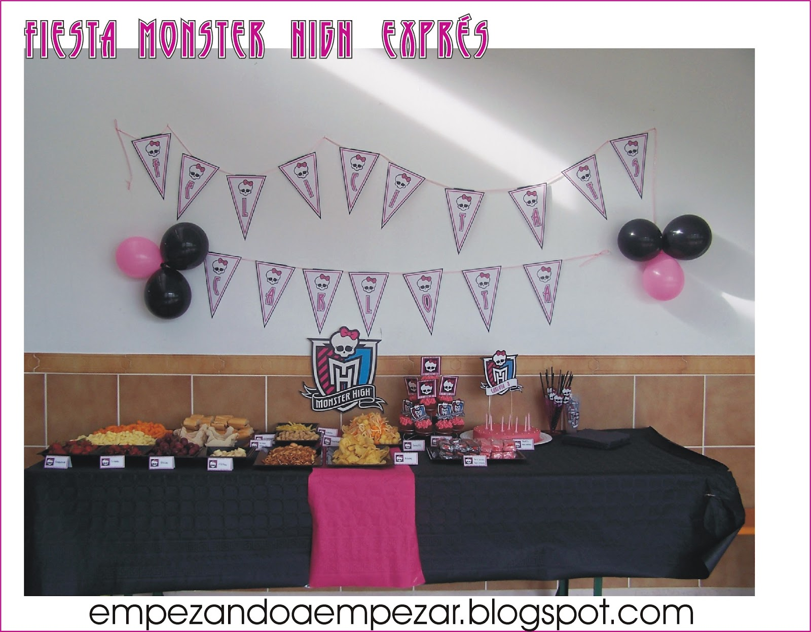 Fiesta Cumplea  Os Monster High Y Fiesta Pijama