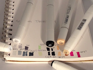 ShinHan Twin Touch and Copic Sketch alcohol based art markers color accuracy test