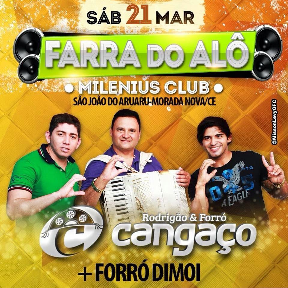 SÁB 21 MARÇO FARRA DO ALÔ -MILENIUS CLUB