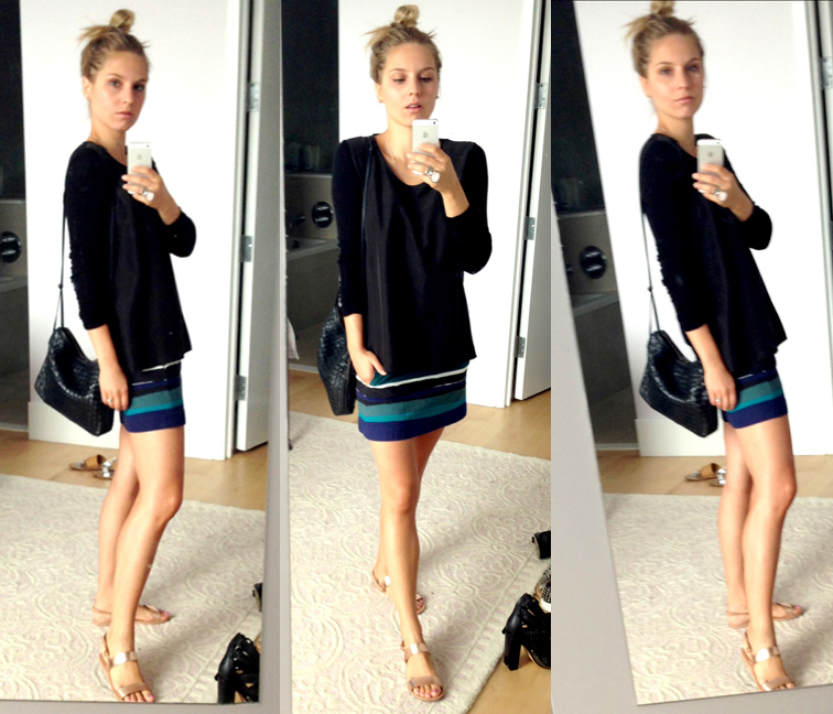 OOTD Selfie Zara Bottega Veneta COS Ancient Greek Sandals