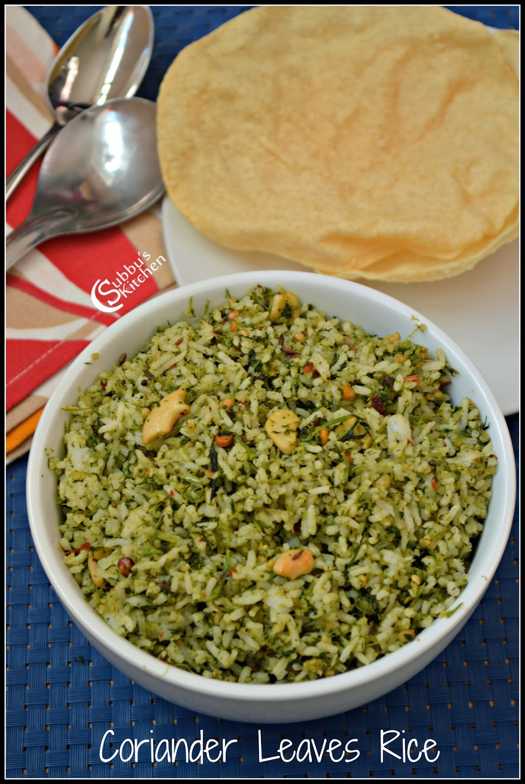 Kothamalli Rice(Corainder Leaves Rice)