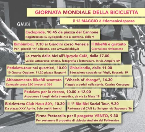 Giornata mondiale della bicicletta domenica 12 maggio 2013 Milano