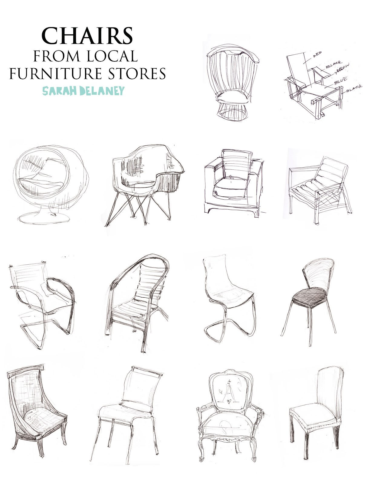 Interior design sketches interior design for Furniture design sketches