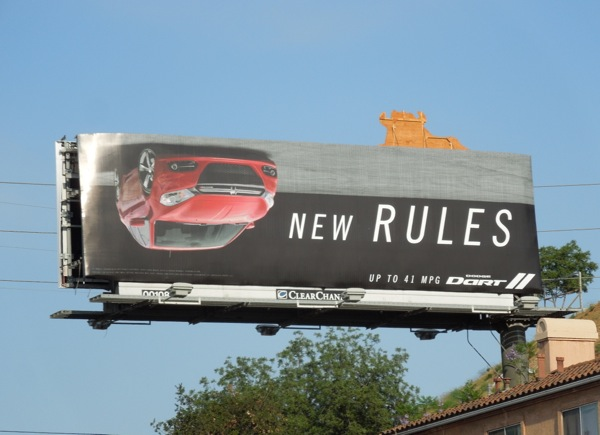 Dodge Dart New Rules car billboard
