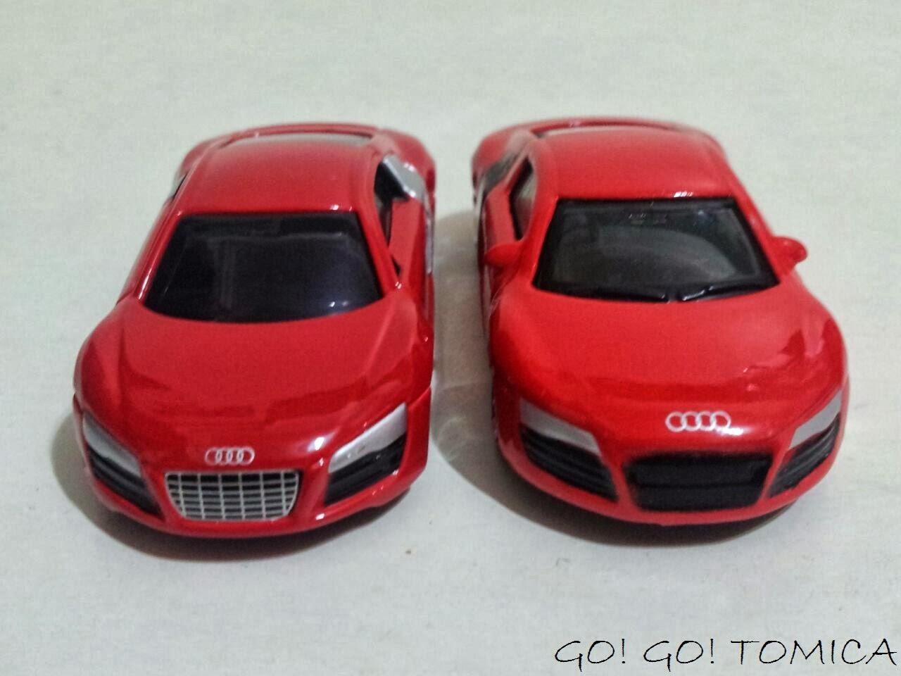 Go Go Tomica Tomica Vs Majorette Audi A1 Amp R8
