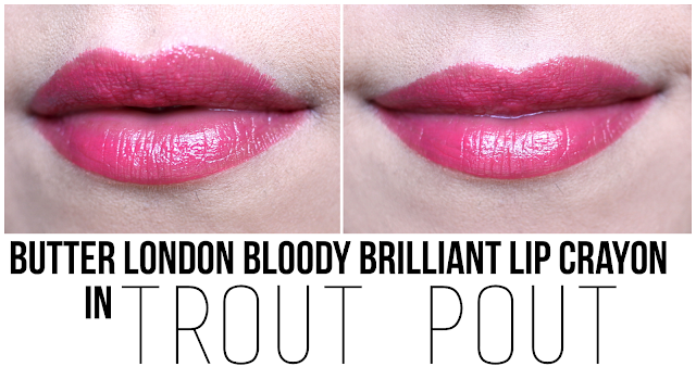 Butter London Bloody Brilliant Lip Crayon in Trout Pout
