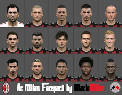 PES 2015 AC Milan facepack by MarioMilan
