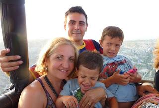 Los Viajes de Héctor al completo en globo por la Capadocia.