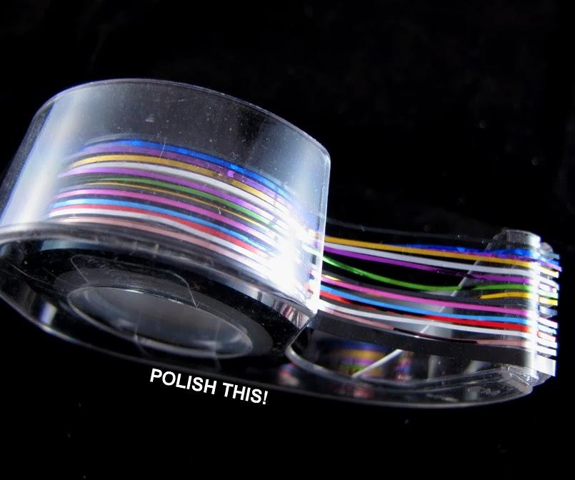 Striping Tape Nail Art Tutorial: Summery Nail Art Striping Tape Tutorial