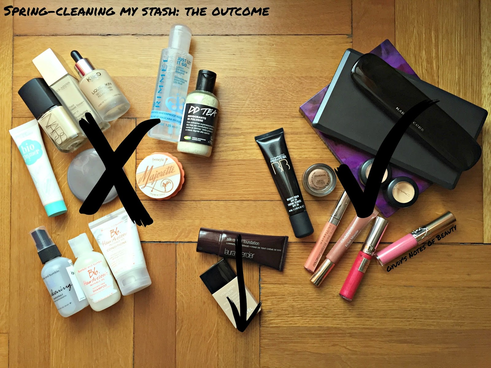 Spring-cleaning, Beauty, Makeup, Haircare, Downsizing
