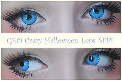 Deep Bright Blue Eyes for Halloween: GEO SF14