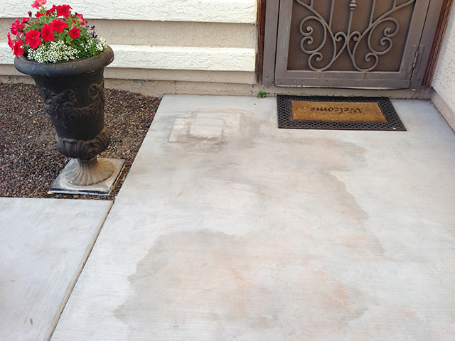 Removing Concrete Water Stains