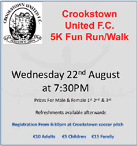 5k west of Ballincollig... Wed 22nd Aug 2018