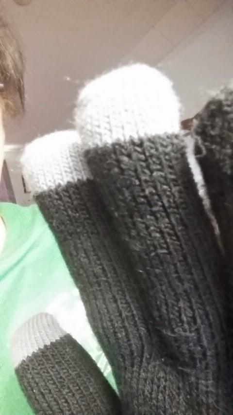 close up smart tech gloves