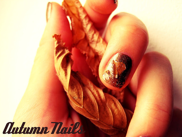 autumn nails glitter tutorial catrice in the bronx