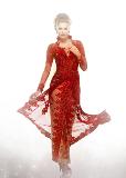 kebaya pengantin merah para artis indonesia