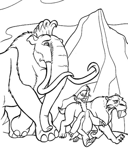 Ice Age Coloring Pages Colouring for Kids