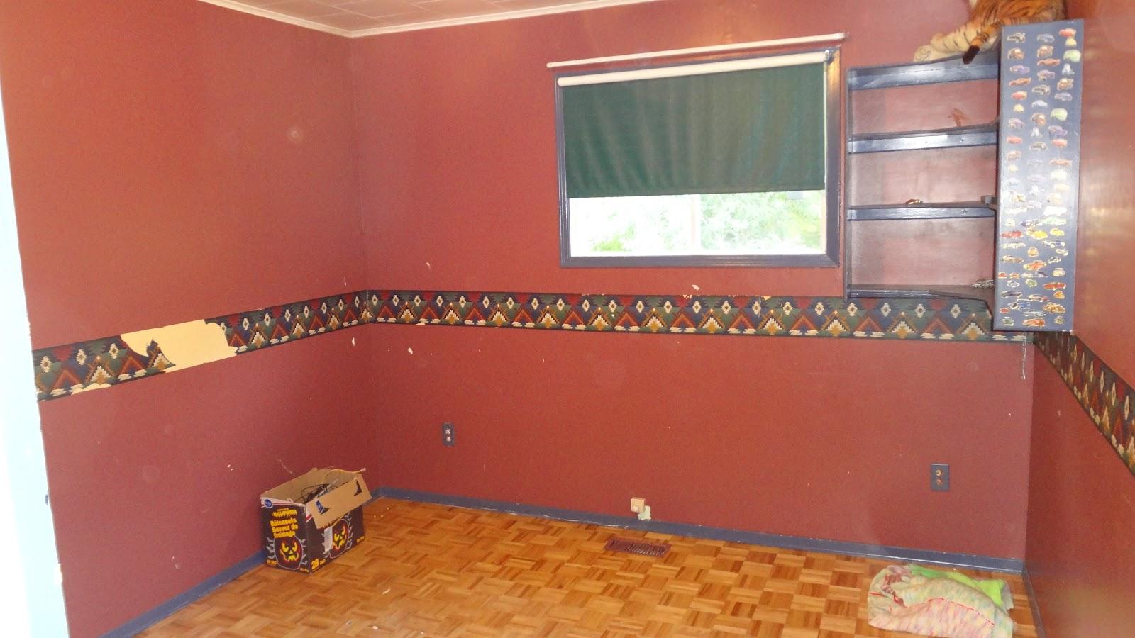 remove blue shelf remove wallpaper border