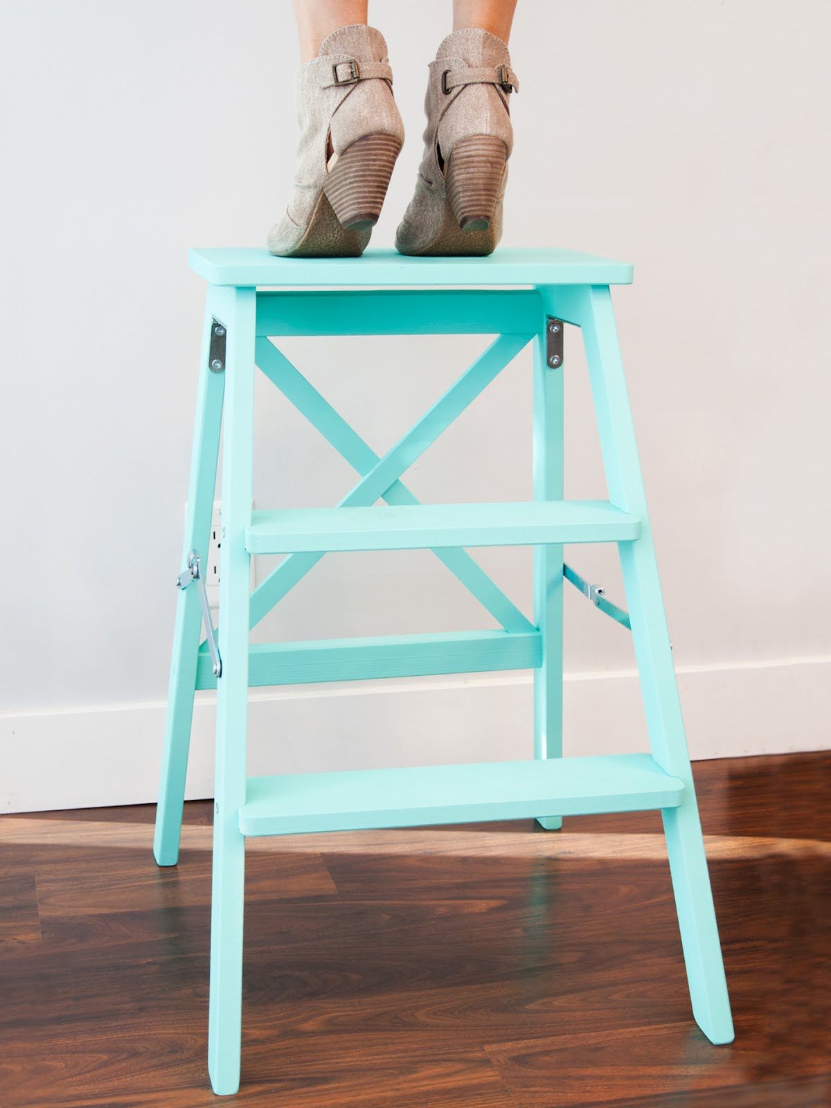Teal step ladder